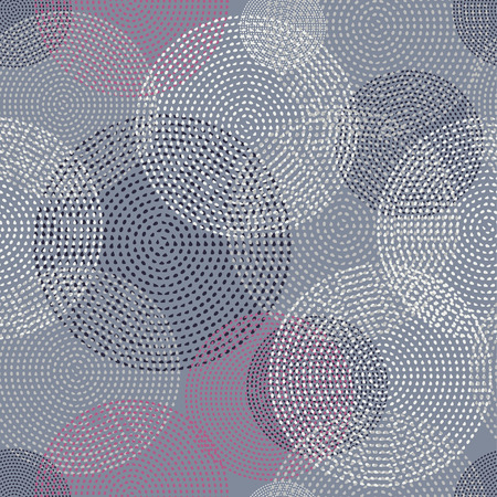 Seamless vector background with decorative dotted circles. Print. Cloth design, wallpaper. Illustration