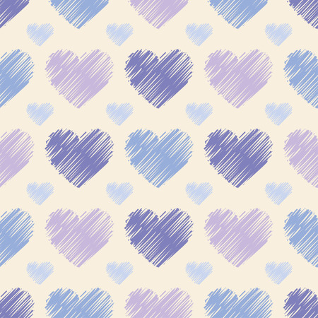 amorousness: Seamless vector background with decorative hearts. Print. Cloth design, wallpaper.