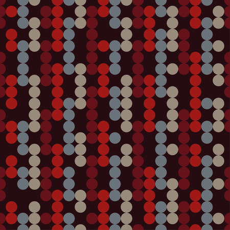 homespun: Seamless vector decorative background with circles and polka dots. Print. Cloth design, wallpaper.