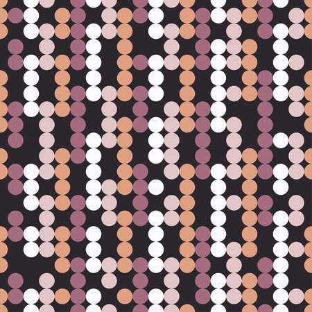 Seamless vector decorative background with circles and polka dots. Print. Cloth design, wallpaper.