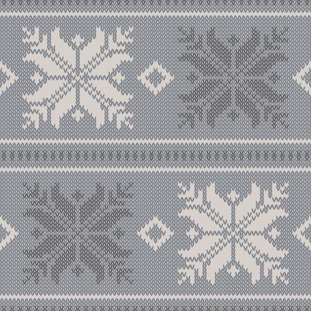 homespun: Seamless vector background with Norwegian snowflakes. Print. Cloth design, wallpaper.