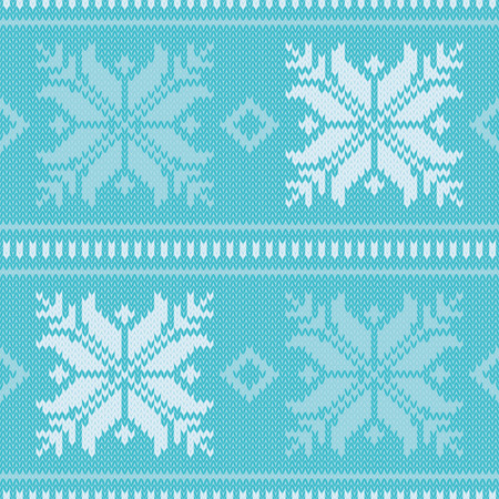 norwegian: Seamless vector background with Norwegian snowflakes. Print. Cloth design, wallpaper.