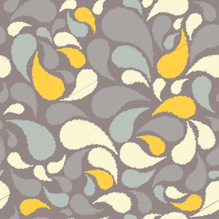 homespun: Ethnic boho seamless pattern with Paisley. Repeating background. Cloth design, wallpaper.