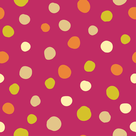 unobstructed: Seamless vector decorative background with polka dots. Print. Cloth design, wallpaper.