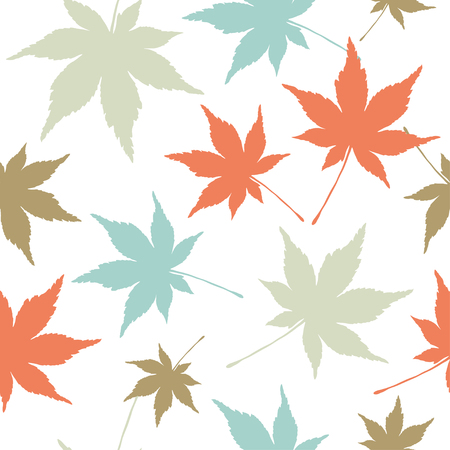 Seamless vector background with decorative leaves. Print. Cloth design, wallpaper.