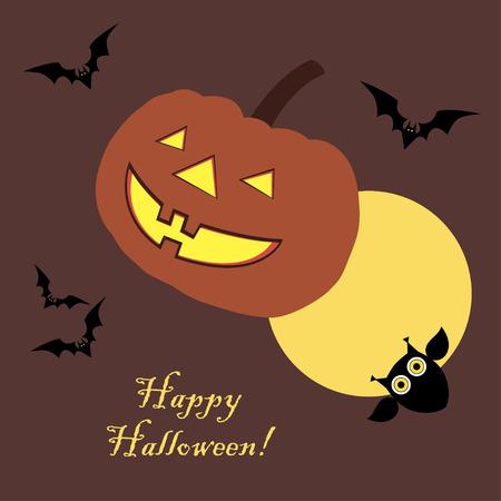 hag: Poster Happy Halloween. Vector illustration.