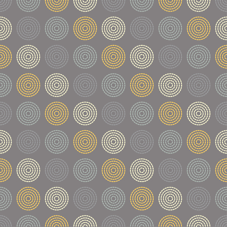 Seamless vector decorative background with dotted rings. Print. Cloth design, wallpaper.