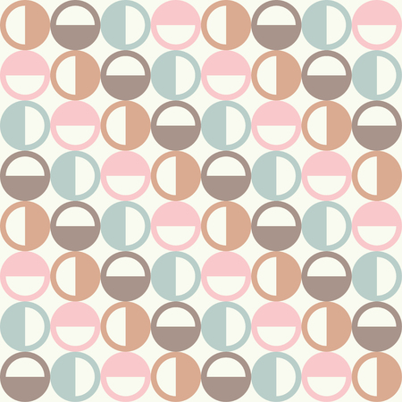 unobstructed: Seamless vector background with decorative circles. Print. Cloth design, wallpaper. Illustration