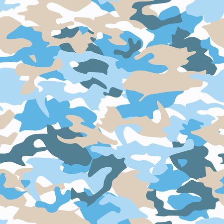 Seamless vector camouflage pattern. Print. Repeating background. Cloth design, wallpaper. Illustration