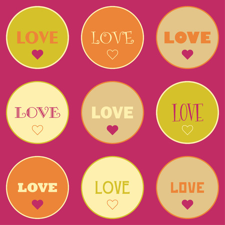amorousness: Seamless vector background with decorative hearts. Print. Poster Love. Cloth design, wallpaper.