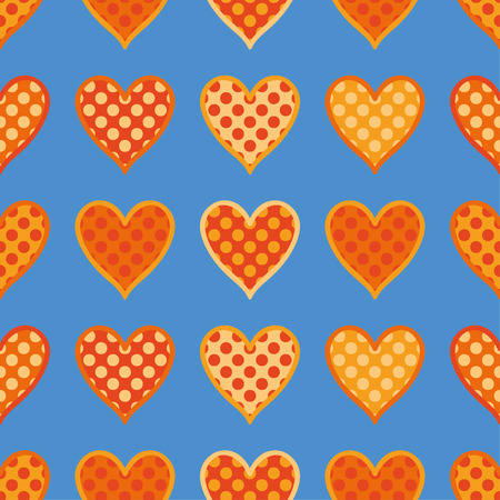 Seamless vector background with decorative hearts. Print. Poster Love. Cloth design, wallpaper.