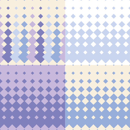 canvas print: Set of 4 seamless vector backgrounds with abstract geometric pattern. Print. Repeating background. Cloth design, wallpaper.