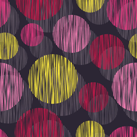 tissue paper art: Seamless vector background with decorative circles. Print. Cloth design, wallpaper. Illustration
