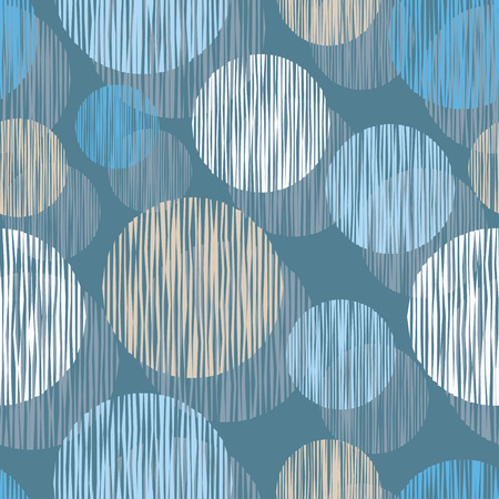 Seamless vector background with decorative circles. Print. Cloth design, wallpaper. Illustration