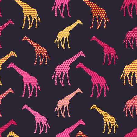 Giraffe seamless background. Print. Repeating background. Cloth design, wallpaper.