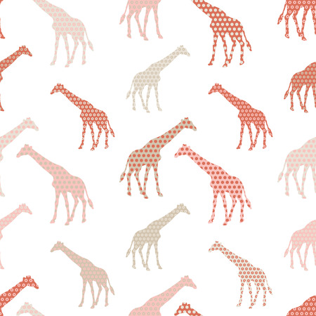double exposure: Giraffe seamless background. Print. Repeating background. Cloth design, wallpaper.