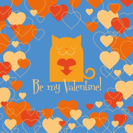 amorousness: Seamless vector backgrounds Valentines Day. Print. Repeating background. Cloth design, wallpaper. Illustration