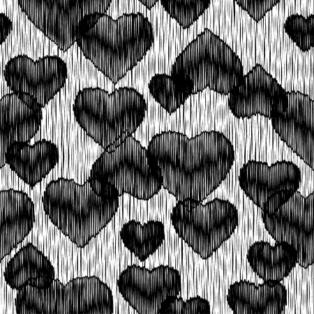 huggable: Seamless vector background with decorative hearts. Valentines day. Print. Cloth design, wallpaper.