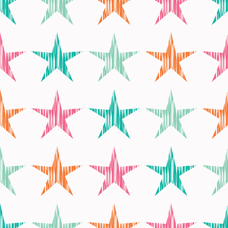 Seamless vector background with decorative stars.
