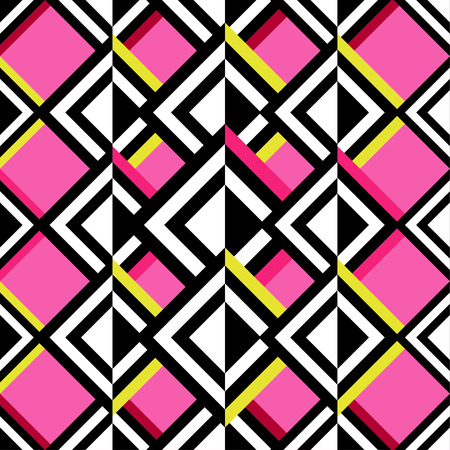 Seamless vector geometric pattern. Illustration
