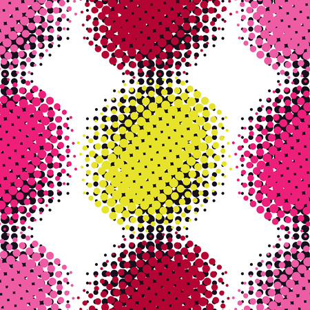 Vector halftone spotted background. Seamless pattern.