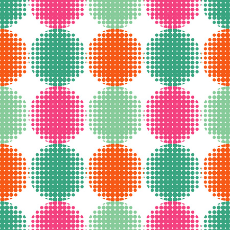 Pattern of dots. Vector seamless background.