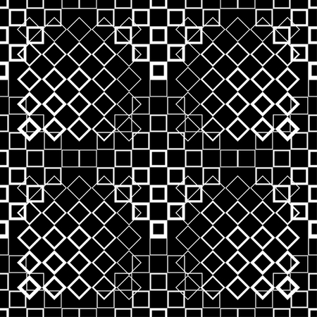 Vector black and white halftone background. Seamless pattern. Textile rapport.