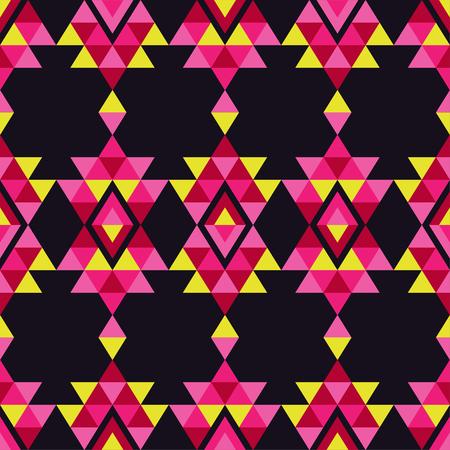 canvas print: Ethnic boho seamless pattern. Retro motif. Vector illustration. Textile rapport.