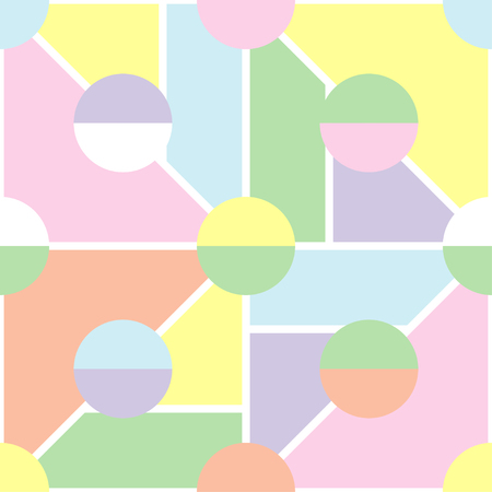 Seamless geometric background with soft pastel colors. Textile rapport. Illustration