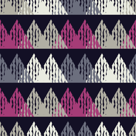 shawl: Mosaic of triangles. Seamless abstract geometric pattern. Vector illustration. Textile rapport.