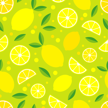 Seamless pattern with decorative lemons. Tropical fruits. Textile rapport.