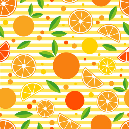 yellow notepad: Seamless pattern with decorative oranges. Tropical fruits. Textile rapport. Illustration