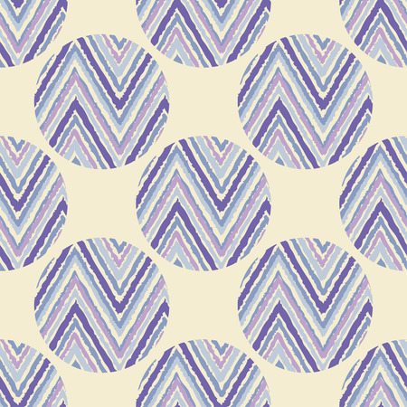 Polka dot seamless pattern with zigzag texture. Vector illustration. Textile rapport. Illustration