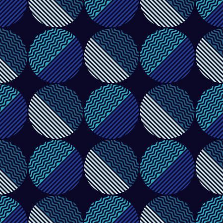 Polka dot seamless pattern. Wave texture. Vector illustration. Textile rapport.