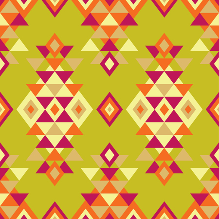 Ethnic boho seamless pattern. Tribal art print, repeatable background. Retro motif. Vector illustration. Textile rapport. Illustration