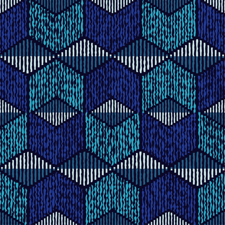 自由奔放に生きる民族のシームレスなパターン。レトロなモチーフ。ベクトルの図。繊維の親密な関係。 写真素材 - 81181561