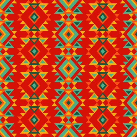 Ethnic boho seamless pattern. Retro motif. Vector illustration. Textile rapport.