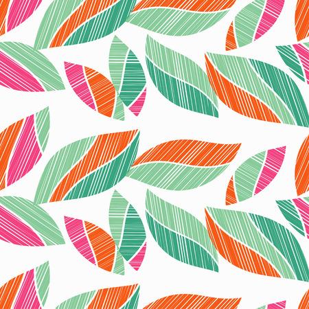 Nahtlose Hintergrund mit dekorativen Blättern. Holzstruktur. Textil-Rapport. Standard-Bild - 81791965