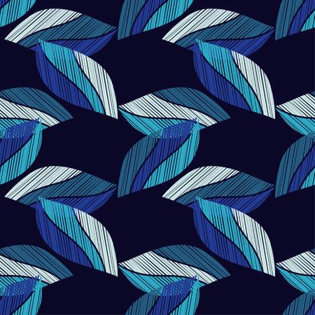 装飾的な葉とシームレスな背景は。ウッド テクスチャ。繊維の親密な関係。