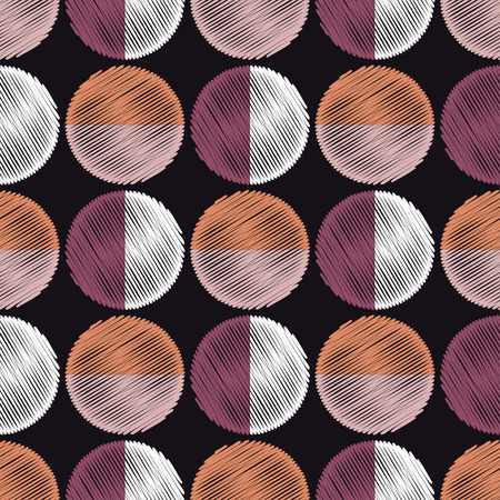 Polka dot seamless pattern. Textile rapport.