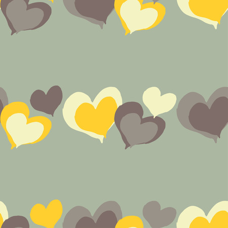 interior decoration: Seamless vector background with decorative hearts. Valentines day. Hand-drawing. Textile rapport.