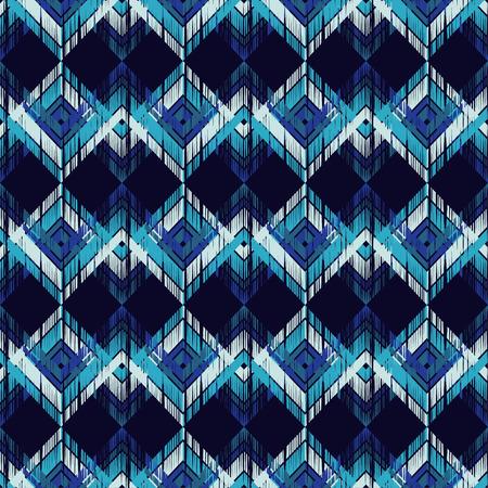 Ethnic boho seamless pattern. Scratches grunge zigzag texture. Retro motif. Textile rapport. 向量圖像