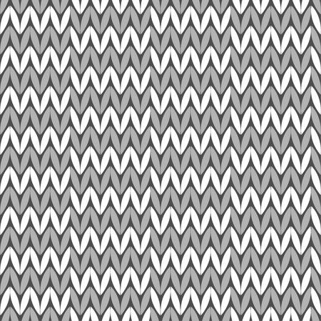 Fondo de punto sin costuras. Patrón de punto. Suéter gris Relación textil. Ilustración de vector