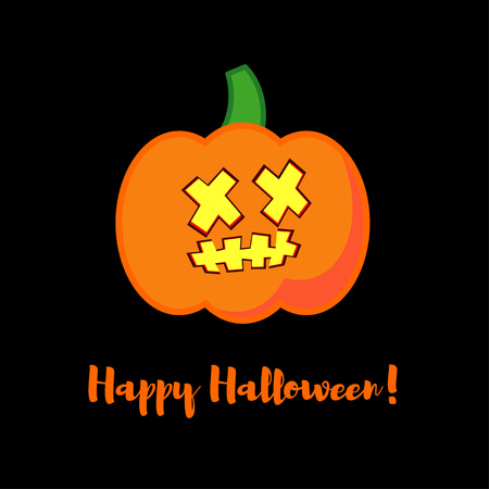 Halloween Party with pumpkins Vector background