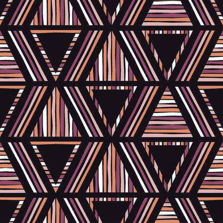 Ethnic boho seamless pattern. Tribal pattern. Retro motif. Textile rapport.