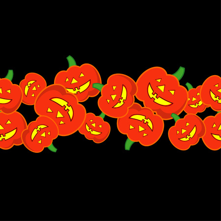 Seamless decorative vector background Happy Halloween. Halloween Party with pumpkins. Textile rapport. Illustration