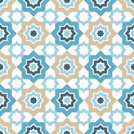 Naadloos patroon in Marokkaanse stijl. Traditioneel ornament. Geometrische achtergrond. Textiel rapport.