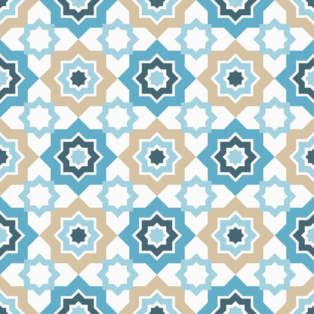 Seamless pattern in Moroccan style. Traditional ornament. Geometric background. Textile rapport.