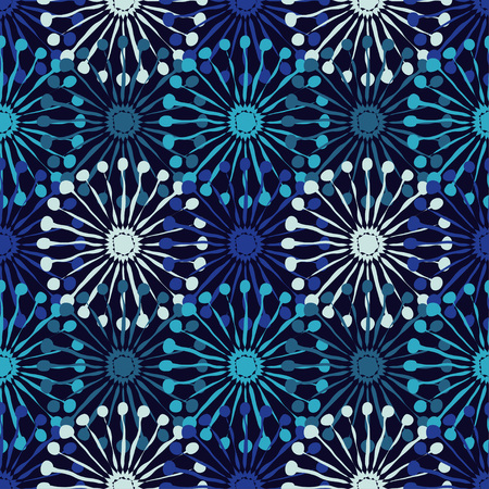 Winter pattern. A seamless background with decorative snowflakes. Illustration