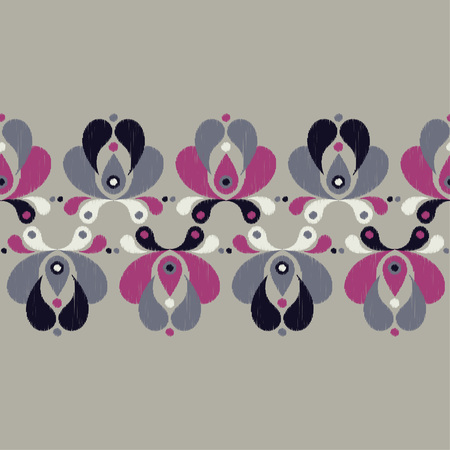 Ethnic boho seamless pattern. Floral pattern. Scribble texture. Retro motif. Textile rapport.